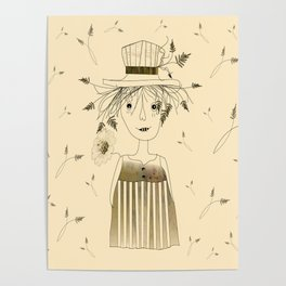 Betty Lou In Wheat Poster