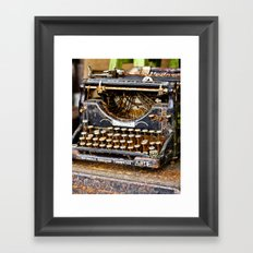 Vintage Rusty Typewriter Framed Art Print