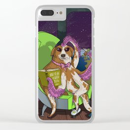 Extraterrestrial Dog Clear iPhone Case
