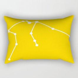 Aquarius (White & Yellow) Rectangular Pillow