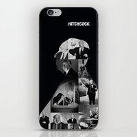 hitchcock iPhone & iPod Skins featuring Hitchcock by tycejones