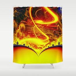 Firestorm from a double sun Shower Curtain