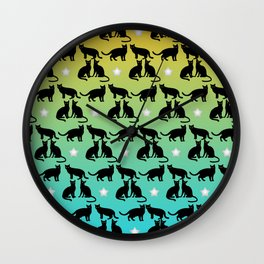 Seamless cat pattern Wall Clock