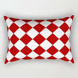 Red and white square pattern Rectangular Pillow