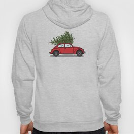 Red car with christmas tree Hoody