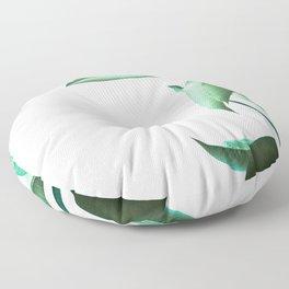 Malibu II (Leaf Print) Floor Pillow
