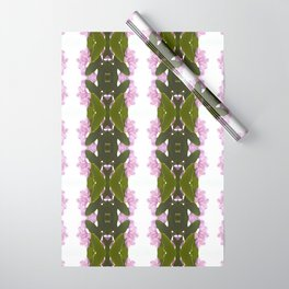 Pink Azalea Flowers with Spring Green Leaves Wrapping Paper