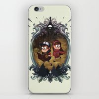 gravity falls iPhone & iPod Skins featuring Gravity Falls by Vaahlkult