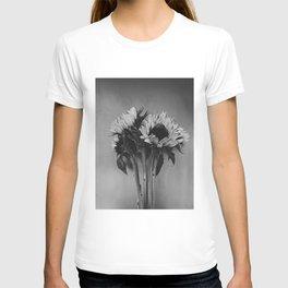 Black and White Sunflowers T-shirt