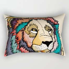 The regal lion Rectangular Pillow