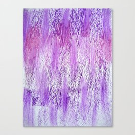 purple and pink rain and clouds Canvas Print