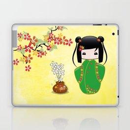 Sakura Kokeshi Doll Laptop & iPad Skin