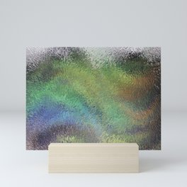 Wavy Abstract Colorful Frosted Glass Mini Art Print