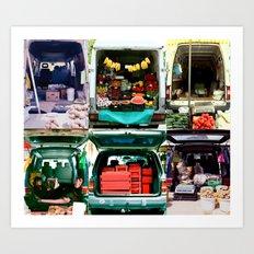 Bazar & market & fruits Art Print