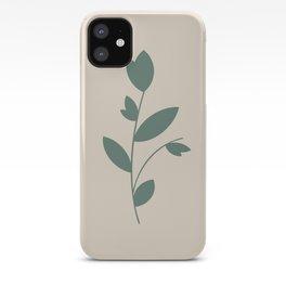 Botanical Minimalism - Teal & Crème iPhone Case