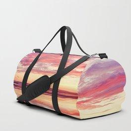 Purple silk Duffle Bag