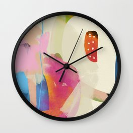 the window to my garden - minimal color abstract modern art Wall Clock