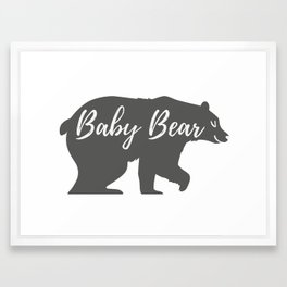 Baby Bear Framed Art Print