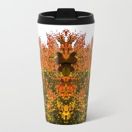 Sunny Autumn Leaves Fall Vibes Travel Mug