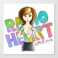 Radioheart Canvas Print