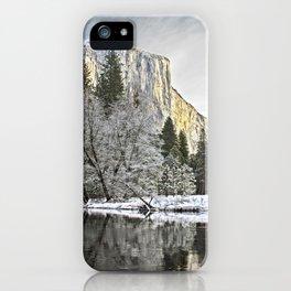 El Capitan & Merced River, Winter iPhone Case