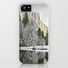 El Capitan & Merced River, Winter iPhone Case