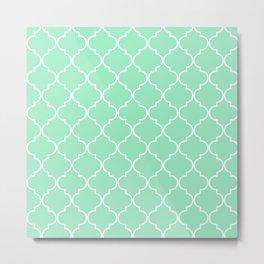 Quatrefoil - Mint Metal Print