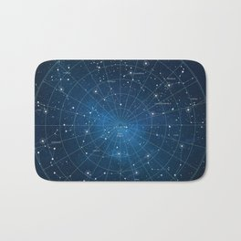 Constellation Star Map Bath Mat