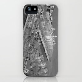 Ellis Island and NYC Harbor Photograph iPhone Case