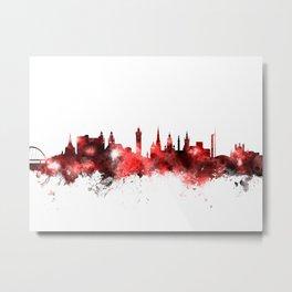 Glasgow Scotland Skyline Metal Print