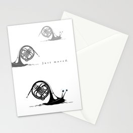 Just moved.  (French Horn) Stationery Cards