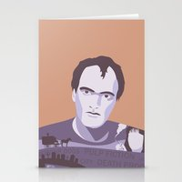 quentin tarantino Stationery Cards featuring Quentin Tarantino by Fanny Öqvist Westerberg