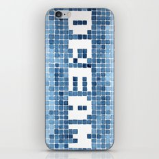 Dream watercolor mosaic typography iPhone Skin