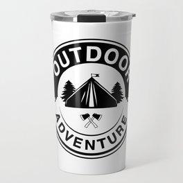 Outdoor Adventure 2 bw Travel Mug