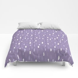 Stains Abstract Ultraviolet Comforters
