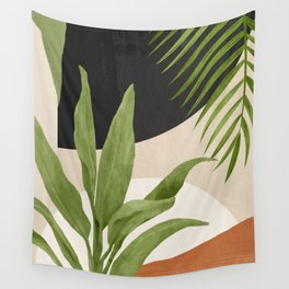 Abstract Art Tropical Leaf 11 Wall Tapestry