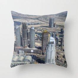 Dubai From The Air Throw Pillow