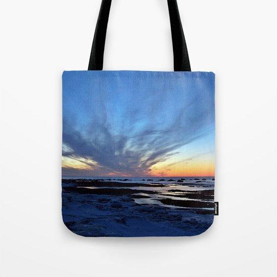 Cloud Streaks at Sunset Tote Bag