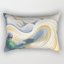 Snowboader in a 'Pillow Paradise' Rectangular Pillow