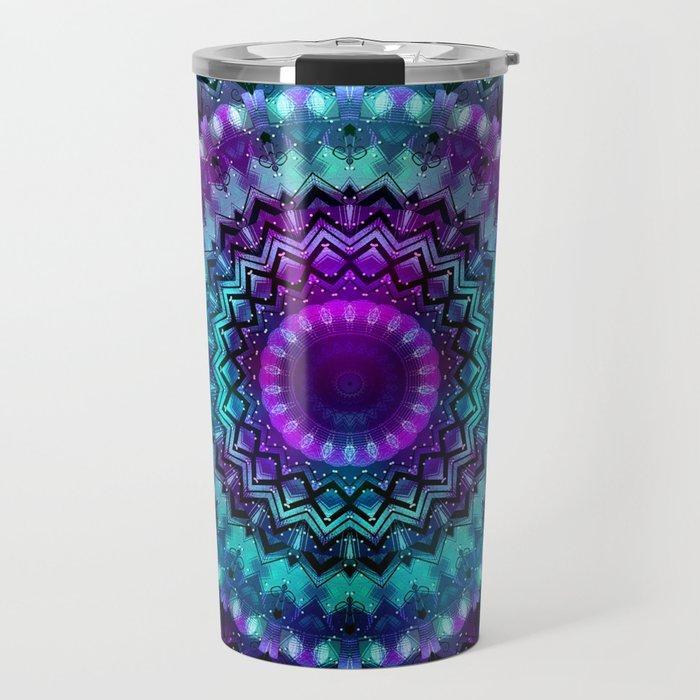 Celestial Midnight Mandala Travel Mug