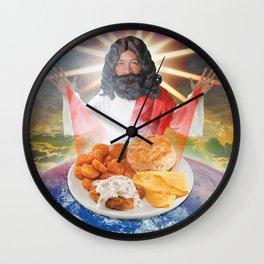 Re-Heated Jesus Wall Clock
