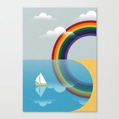 Rainbow by the Sea Canvas Print
