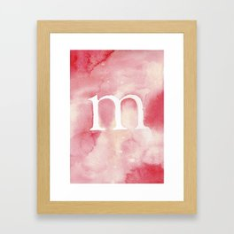 m watercolor Framed Art Print