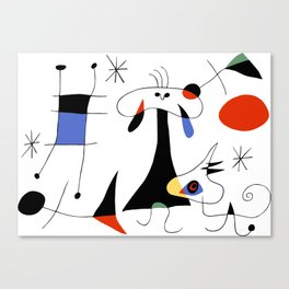 Joan Miro The Sun (El Sol) 1949 Painting Artwork For Prints Posters Tshirts Bags Women Men Kids Canvas Print