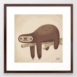 All in Good Time (Sloth) Framed Art Print