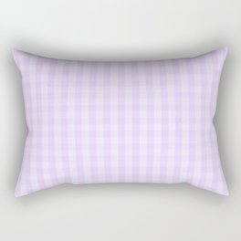 Chalky Pale Lilac Pastel Gingham Check Plaid Rectangular Pillow