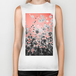 Black and White Spotted2-Red Biker Tank
