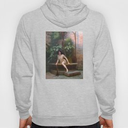 Truth Coming Out Of Her Well To Shame Mankind Jean-Leon Gerome Hoody