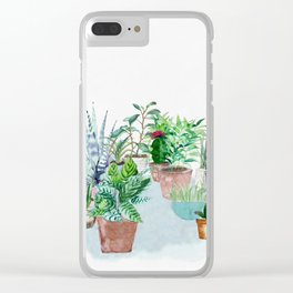 Plants 2 Clear iPhone Case