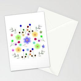Minimalist Flowers Stationery Cards